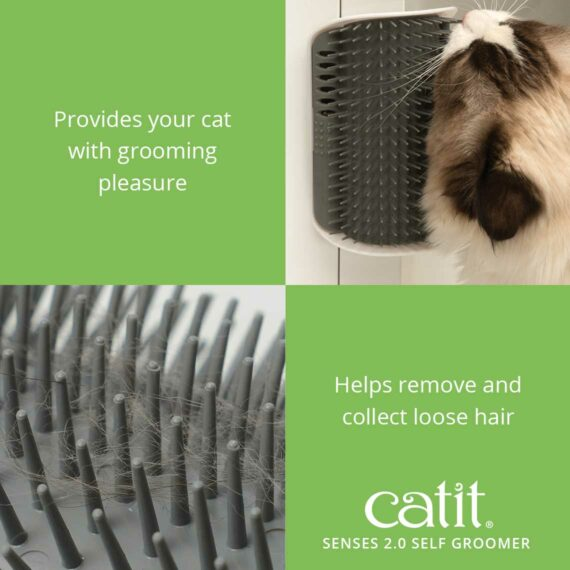 The Self Groomer helps remove and collect loose hair