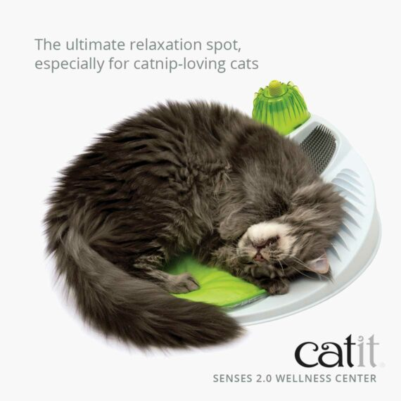 The Wellness Center is the ultimate relaxation spot especially for catnip-loving cats
