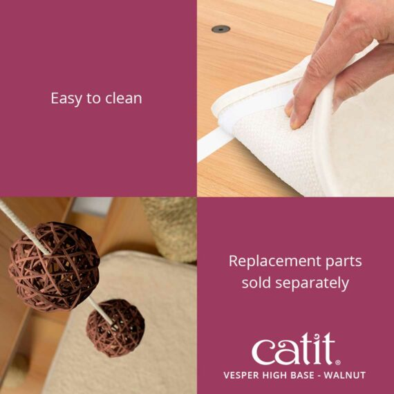 Catit Vesper High Base is easy to clean and the replacement parts are sold separately