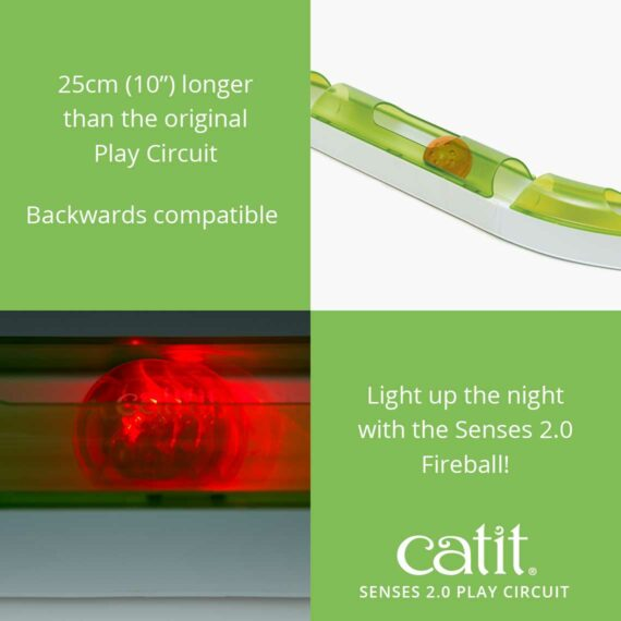 Senses 2.0 Play Circuit is 25cm (10_) longer than the original and is backwards compatible, you can light up the night with the Senses 2.0 Fireball