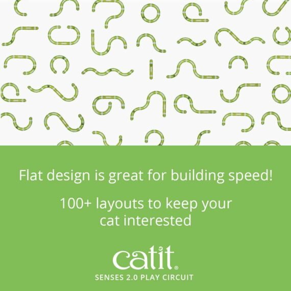 Senses 2.0 Play Circuit's flat design is great for building speed and has a 100+ layouts to keep your cat interested
