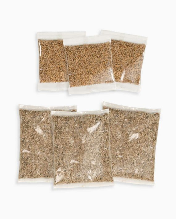 A few bags of seeds to plant in the grass planter
