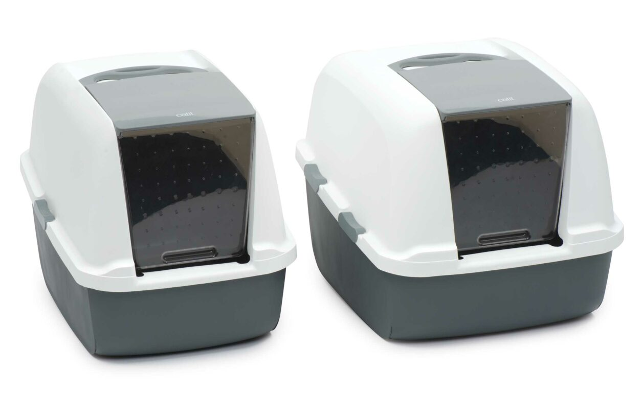 Picture of 2 litter boxes