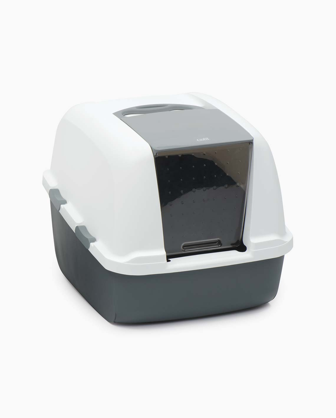 Jumbo litter box from the front