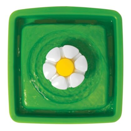 Birdseye view of Catit mini flower fountain operating