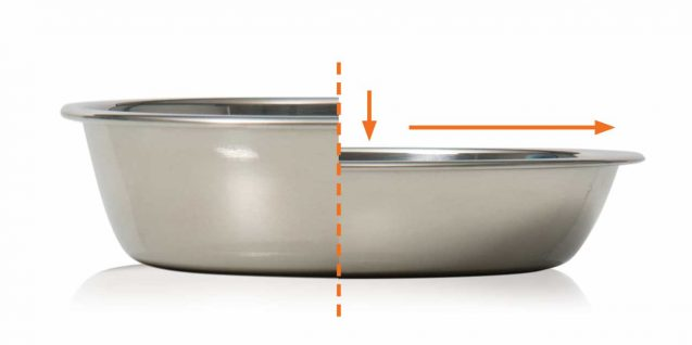Shallow whisker stress-free dish for cats