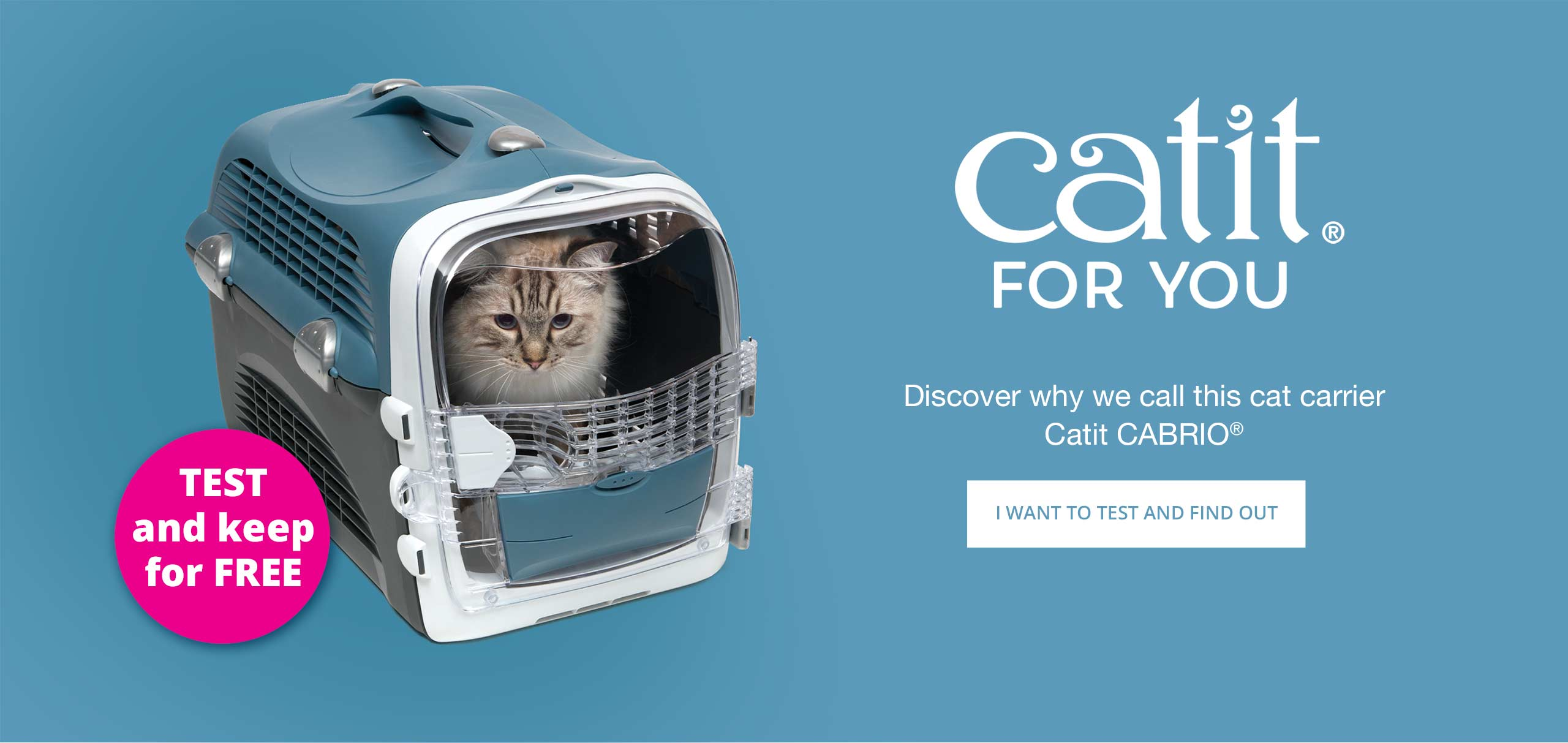 Test and Keep for Ambassadors - Win a Catit Cabrio