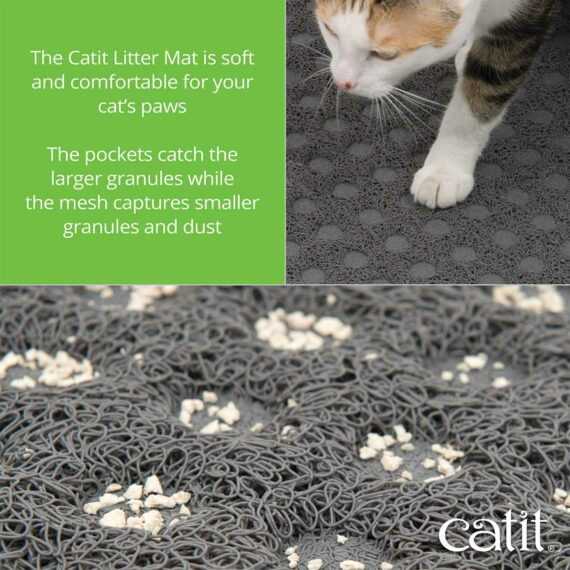 The Catit Litter Mat is soft and comfortable for your cat's paws – 3