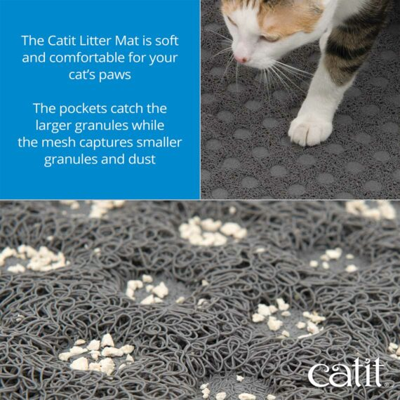 The Catit Litter Mat is soft and comfortable for your cat's paws - 3