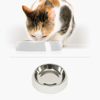 43870 - Feeding Dish Single White