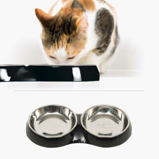 43873 - Feeding Dish Double Black