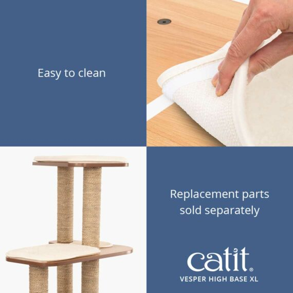 Catit Vesper High Base XL is easy to clean and the replacement parts are sold separately