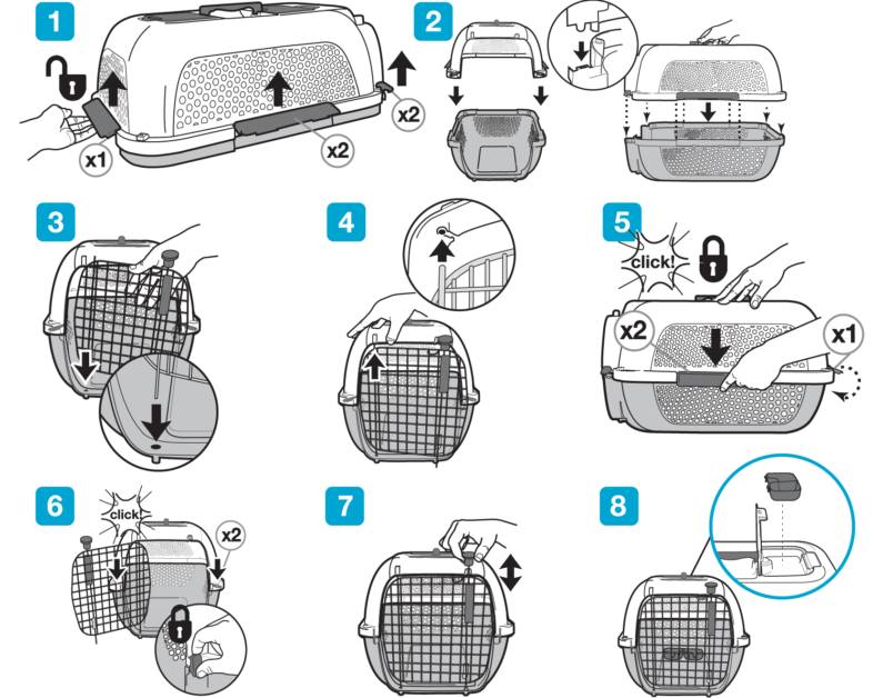 Catit Cat Carrier Assembly Instructions