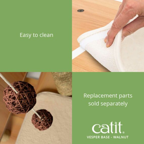 Catit Vesper Base is easy to clean and the replacement parts are sold separately