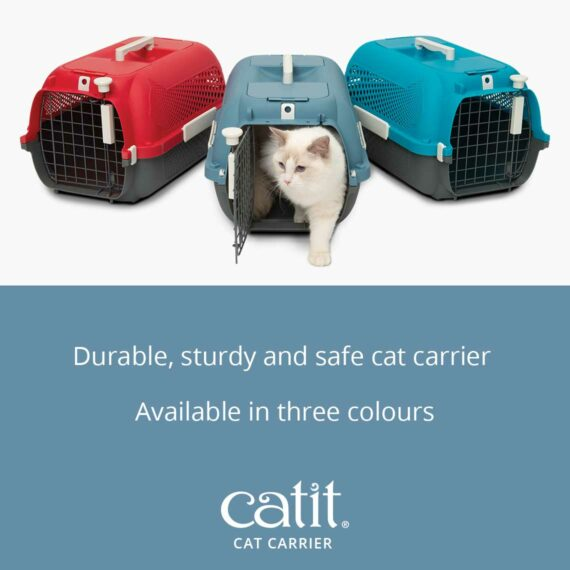 Catit Cat Carrier is a durable, sturdy and safe cat carrier available in three colours