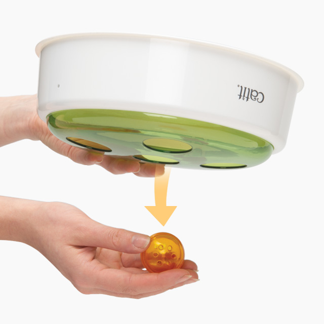 Hold the Ball Dome upside down to remove the ball