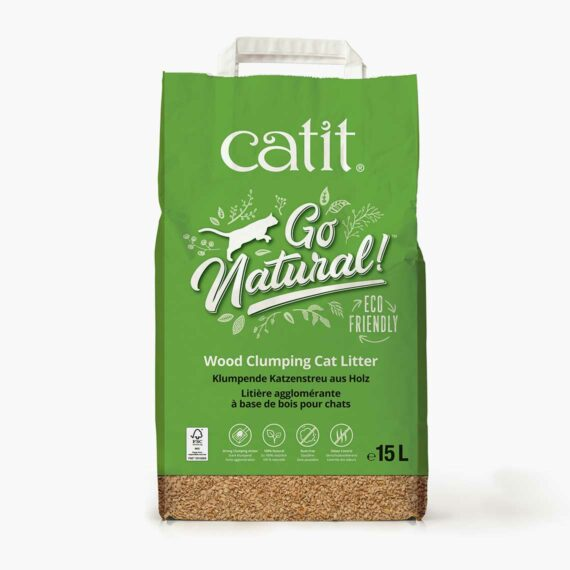 44148 Go Natural Wood litter Bag - 15L