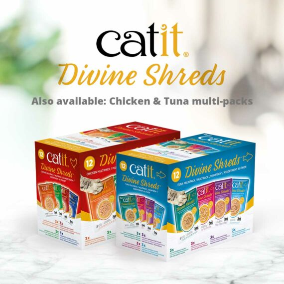 Catit Divine Shreds - also available: Chicken & Tuna multipacks