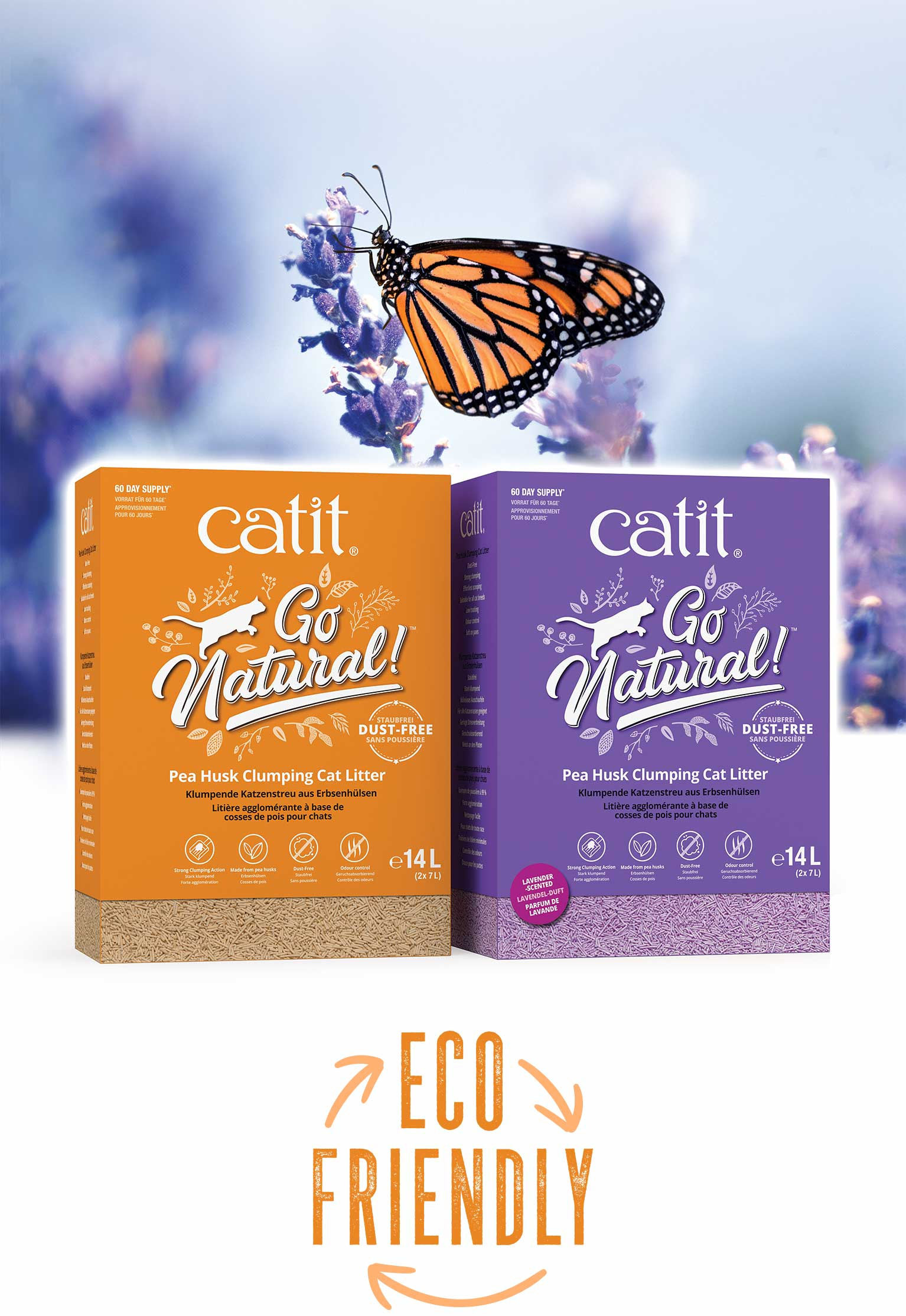 Catit Go Natural clumping cat litter - Eco Friendly