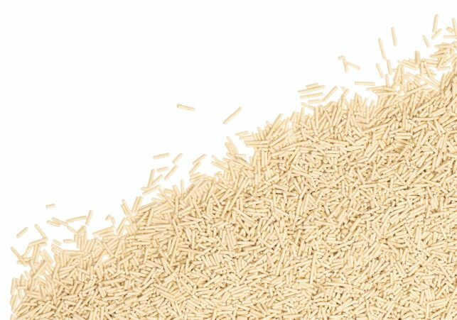 Pea husk clumping cat litter is dust free