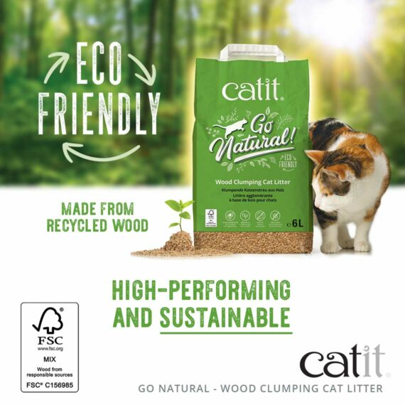 Go Natural Wood Clumping Cat Litter - High-performing and sustainable