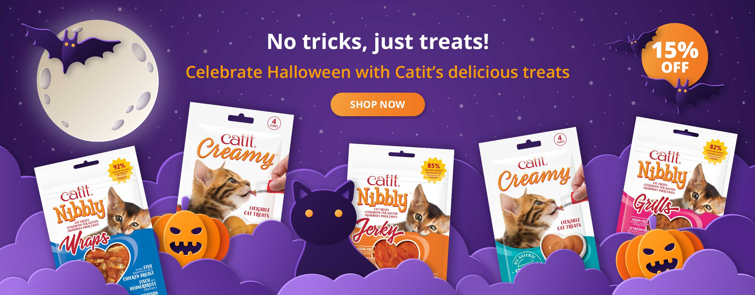No tricks, just treats! Celebrate Halloween with Catit's delicious treats - shop now