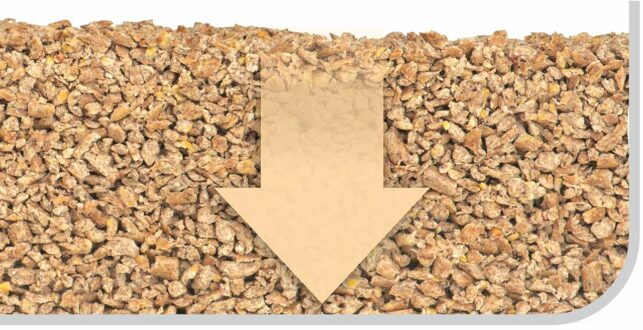 Catit Go Natural wood litter is sieved twice during production, to ensure there's barely any dust remaining