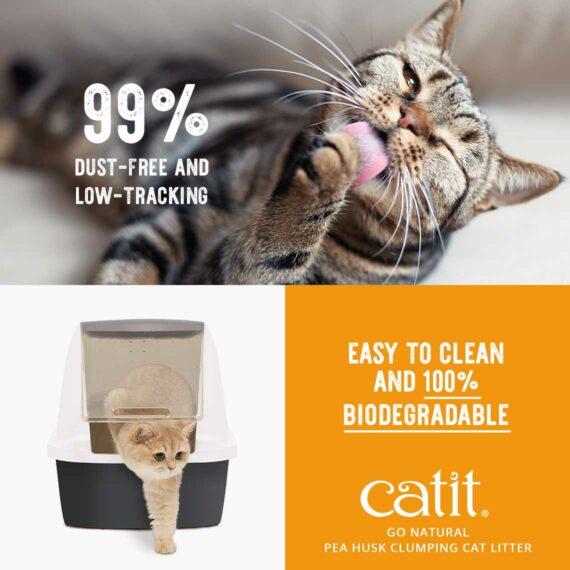 Go Natural Pea Husk - 99% dust-free and low-tracking, easy to clean and 100% biodegradable