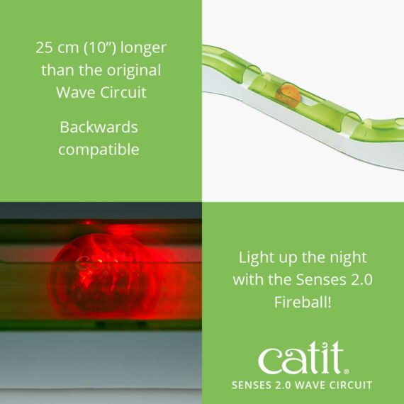"Senses 2.0 Wave Circuit - 25cm (""10) longer than the original Wave Circuit - Backwards compatible - Light up the night with the Senses 2.0 Fireball!"