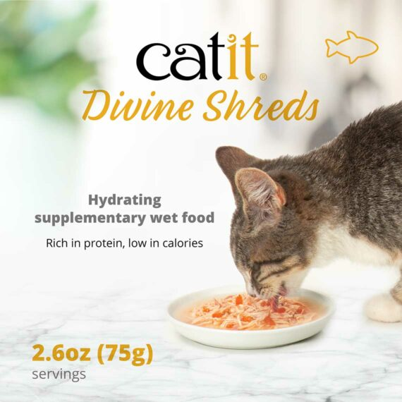 Catit Divine Shreds Fish - Hydrating supplementary wet food