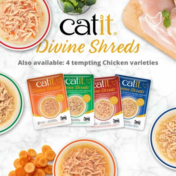 Catit Divine Shreds - Also available: 4 tempting chicken varieties
