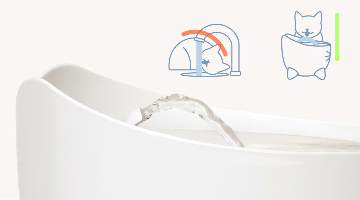 43715-Unique arching water flow for vertical drinking mobile