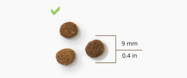 Works with all standard food pellet sizes and shapes