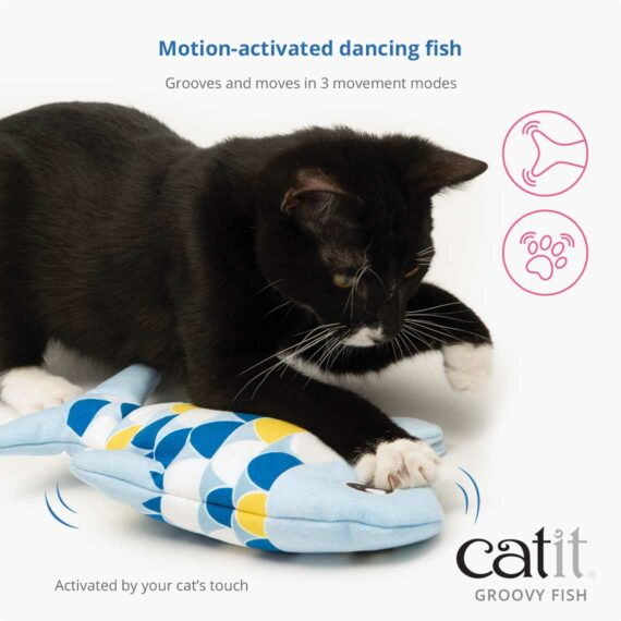 Motion-activated dancing fish